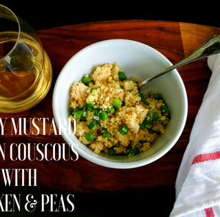 Honey Mustard Lemon Couscous with Chicken and Peas