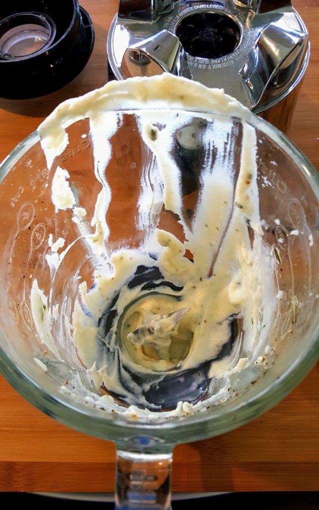 leftover puree in the blender