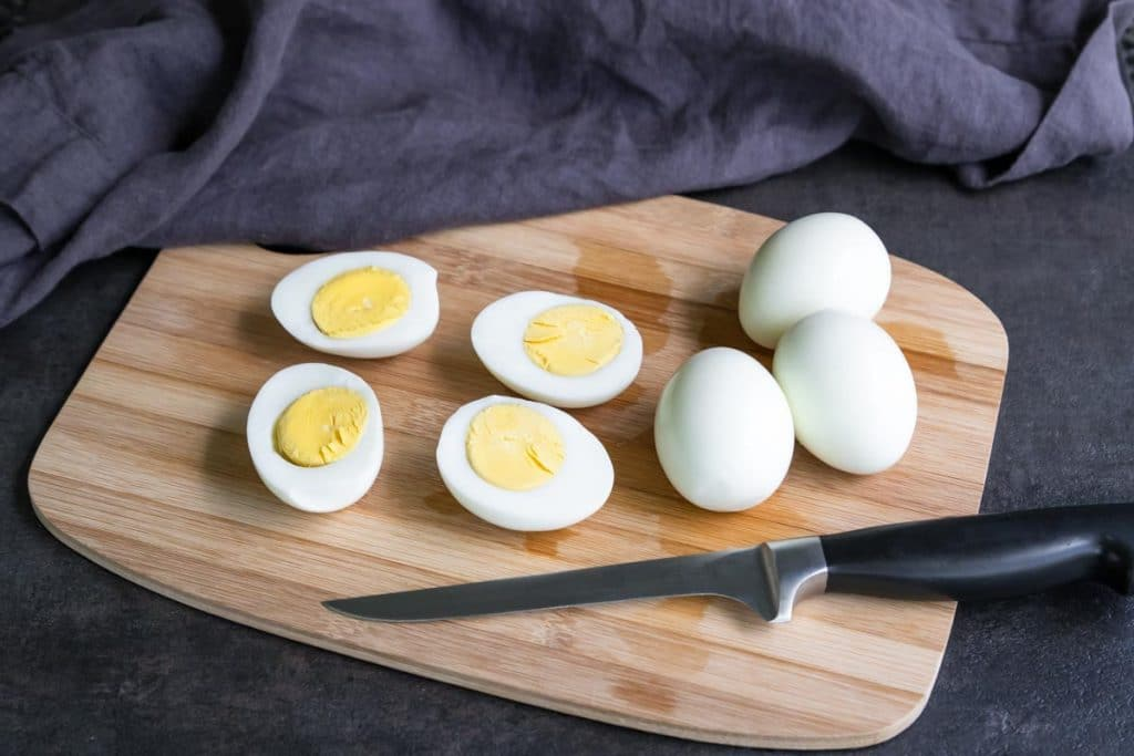 how to cut hard boiled eggs for deviled eggs