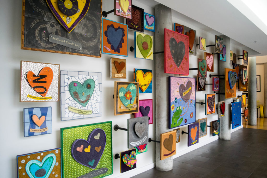 Heart Wall at Ronald McDonald House