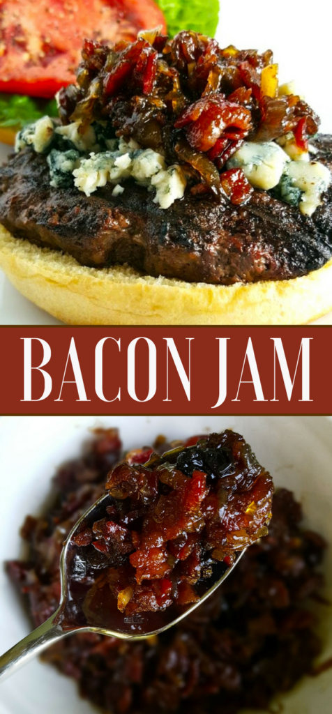 Bacon Jam & Blue Cheese Burger Pinterest Image