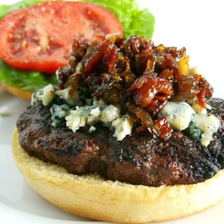 bacon jam and blue cheese burger momsdinner.net