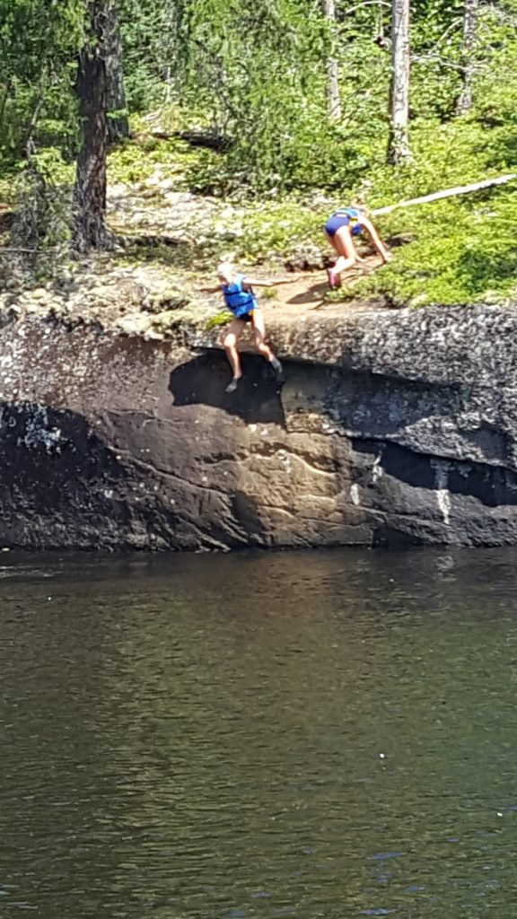 cliff jumping lake one