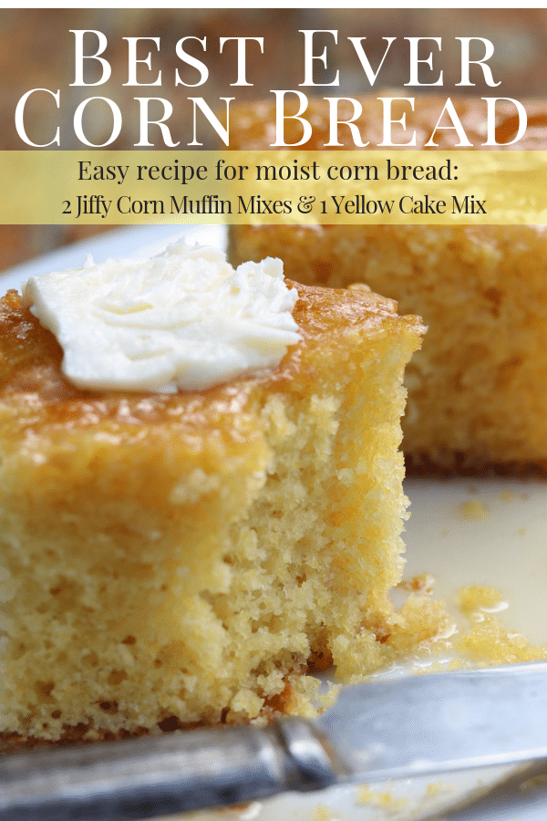 Best Ever Corn Bread Pinterest Image
