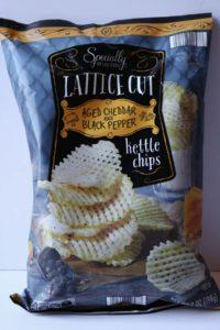 Lattice Cut Aged Cheddar Chips from Aldi