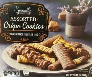 Assorted Crepe cookies from Aldi
