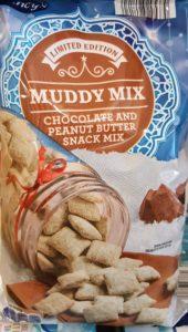Muddy Mix chocolate peanut butter snack mix from Aldi