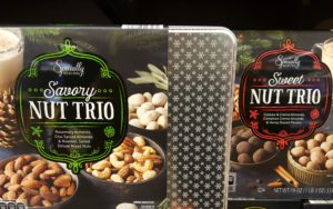 Nut Trio tins for the holidays from Aldi