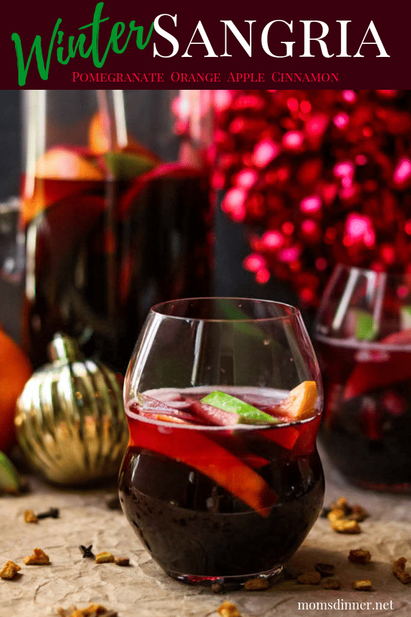 Red Wine Winter Sangria Pinterest Image