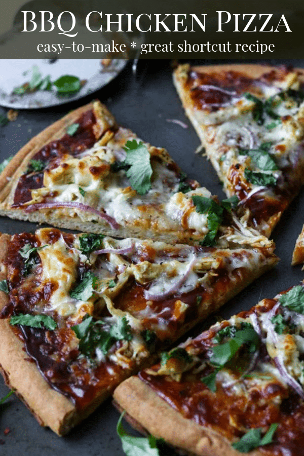 BBQ Chicken Pizza Pinterest Image