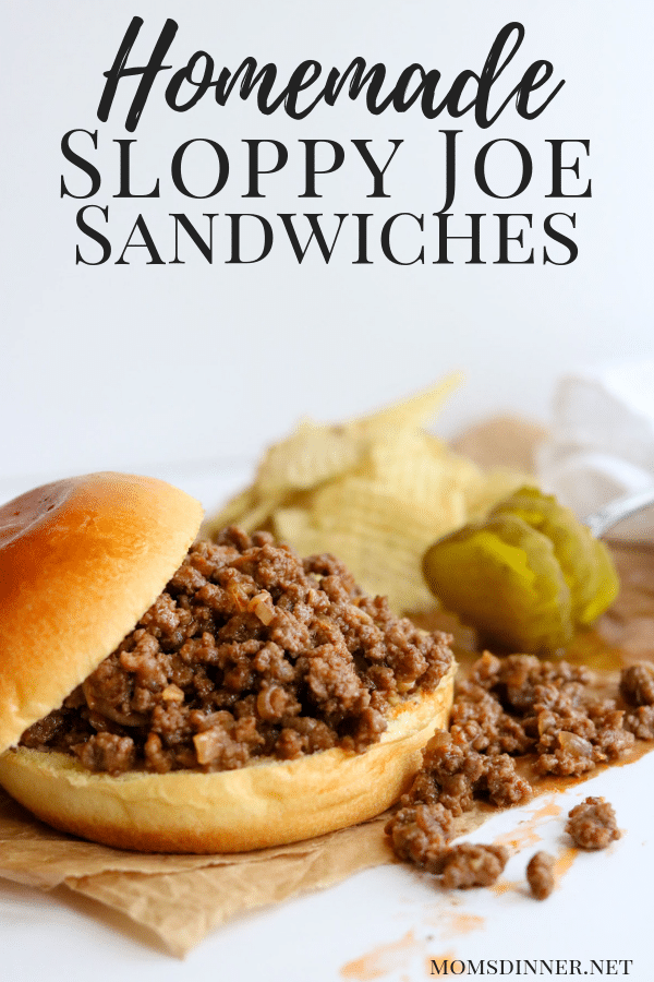 Homemade Sloppy Joe Sandwiches Pinterest Image