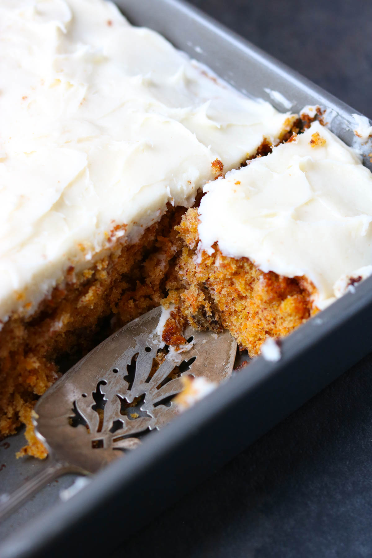 Grandma's Carrot Cake with Cream Cheese Buttercream in a 9x13 pan