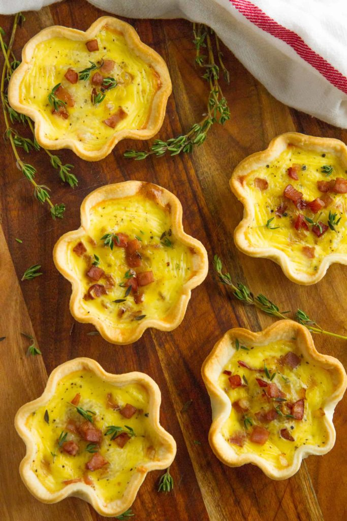 Ham and Cheese Mini Quiche
