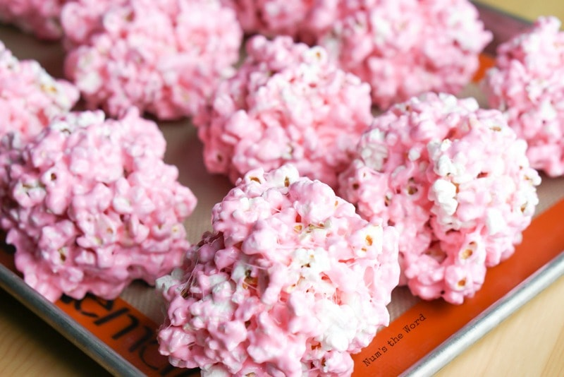 Peeps popcorn balls