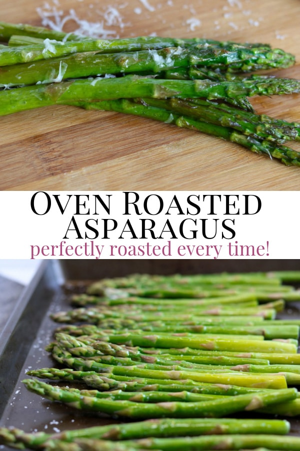 oven roasted asparagus pin image