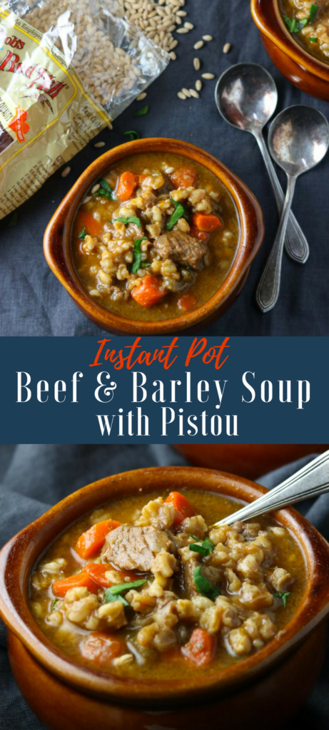 Beef & Barley Soup with Pistou Pinterest Image