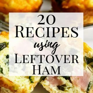 Leftover Ham Recipe Roundup Pin Image