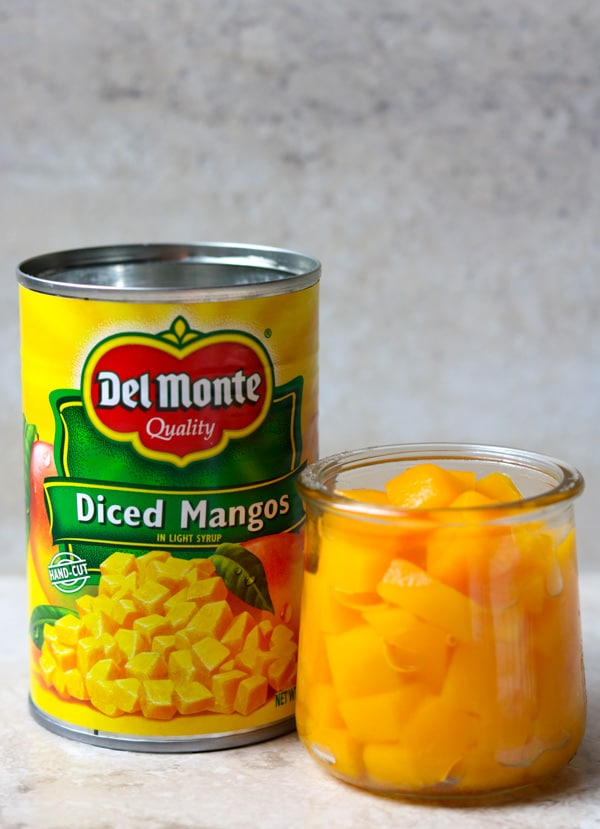 a can of diced mangos