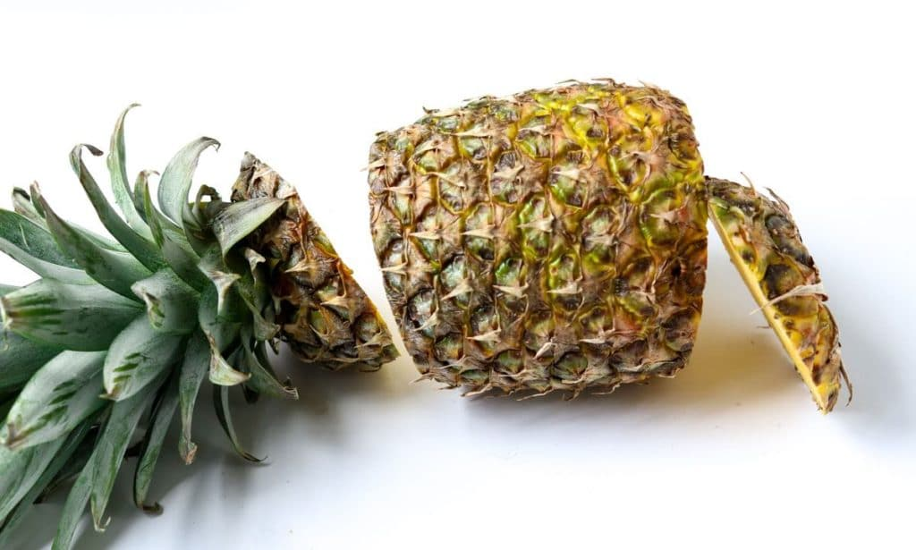 Fresh Pineapple with the top and bottom cut off