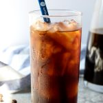 An easy to make strong cold brew coffee. All you need are some coarse ground fresh coffee beans, water, a filter and some patience. Includes instructions to make Cold Brew Iced Latte #coffee #drink #icedcoffee #coldbrewrecipe