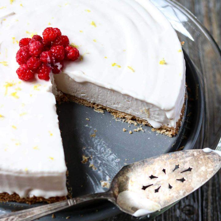 Raspberry Lemonade Icebox Pie
