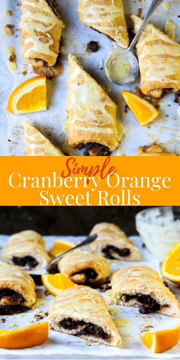 Cranberry Orange Sweet Roll Pinterest Image