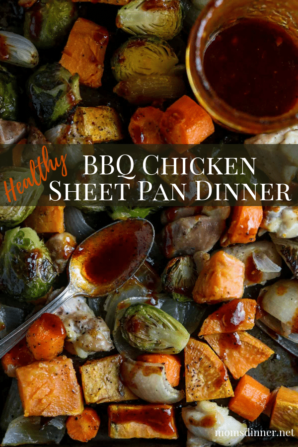 BBQ Chicken Sheet Pan Dinner Pinterest Image