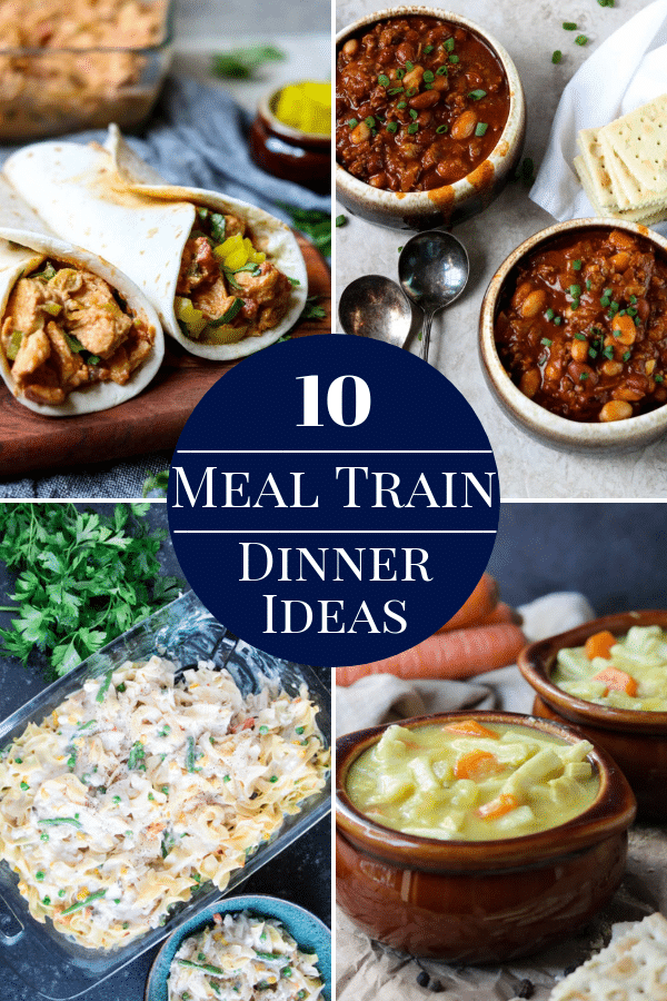 10 Meal Train Dinner Ideas Pinterest Image