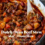 Dutch oven beef stew pin image