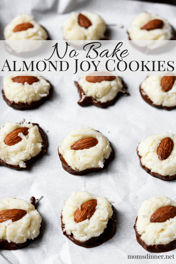 No Bake Almond Joy Cookies Pinterest Image