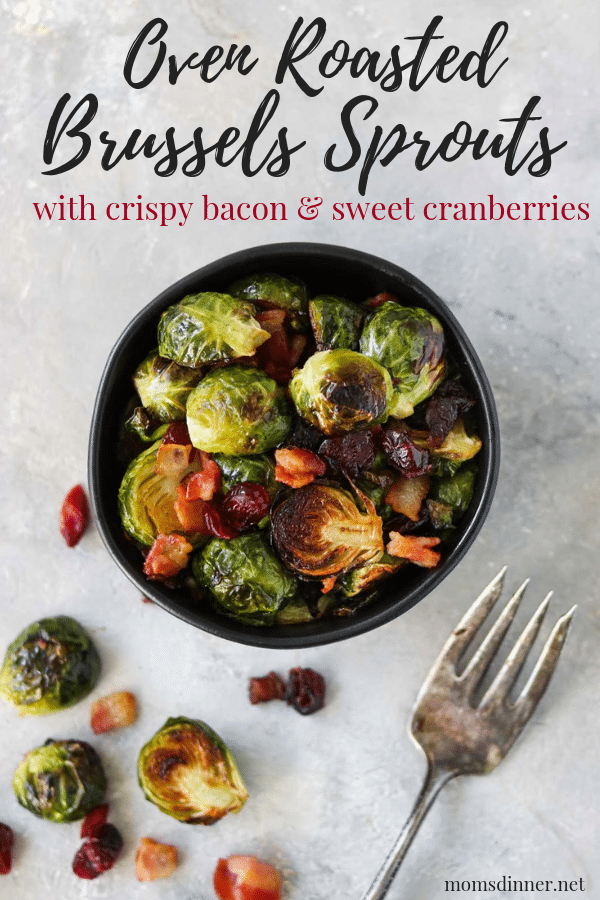 Oven Roasted Brussels Sprouts Pinterest Image
