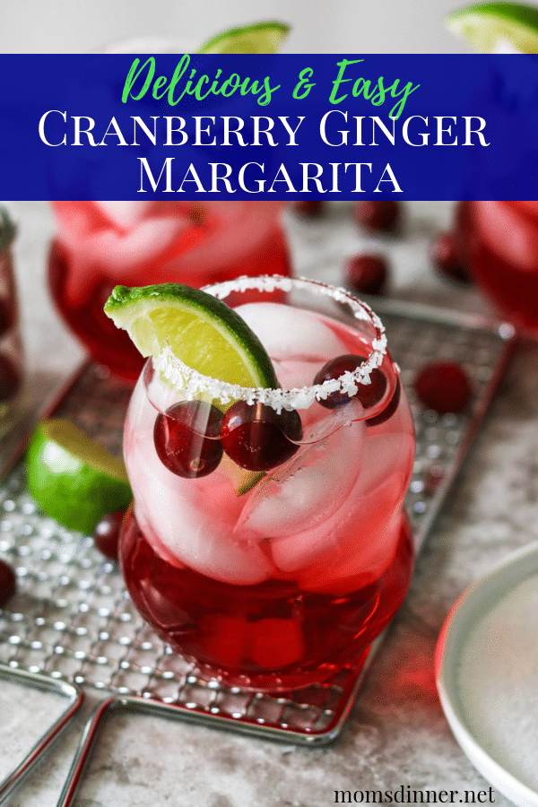 Cranberry Ginger Margarita Pinterest Image