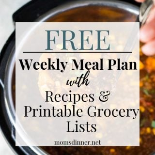 Free Meal Plan with Grocery List pin image