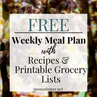 Free meal plan pin image