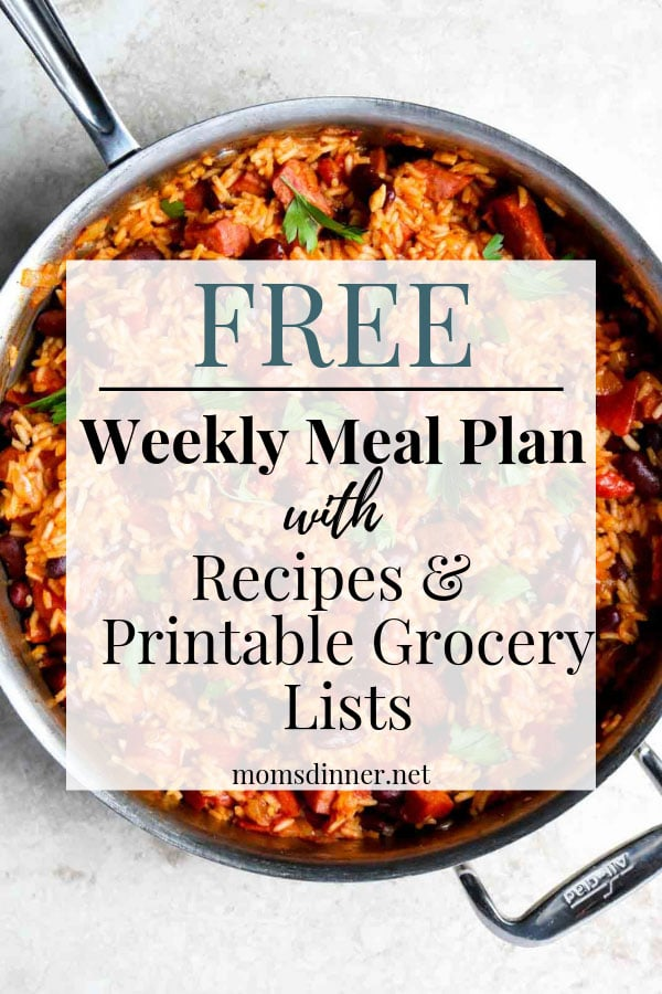 Free Meal Plan with Grocery List