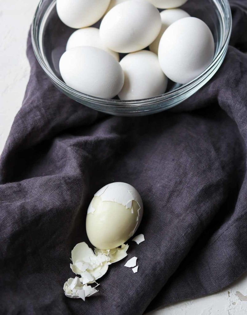 Hard boiled eggs cooked in the instant pot