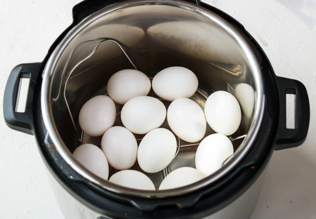 Instant Pot full of 12 eggs