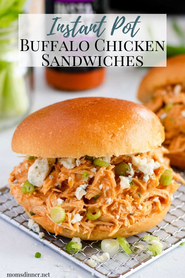Instant Pot Buffalo Chicken Sandwich Pin Image