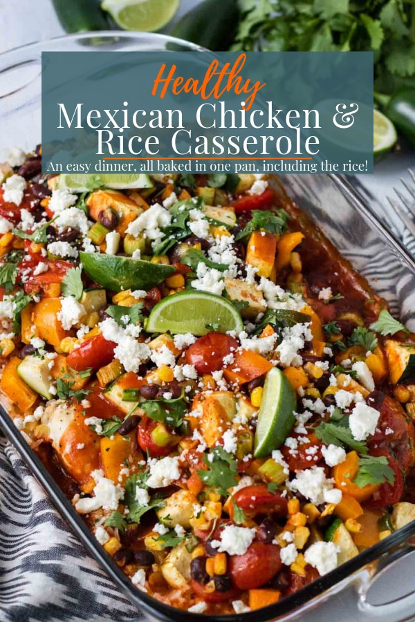 Mexican Chicken Casserole Pin Image
