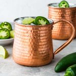 Copper mug with a Spicy Tequila Moscow Mule