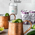 Tequila Moscow Mule in a copper mug pinterest image