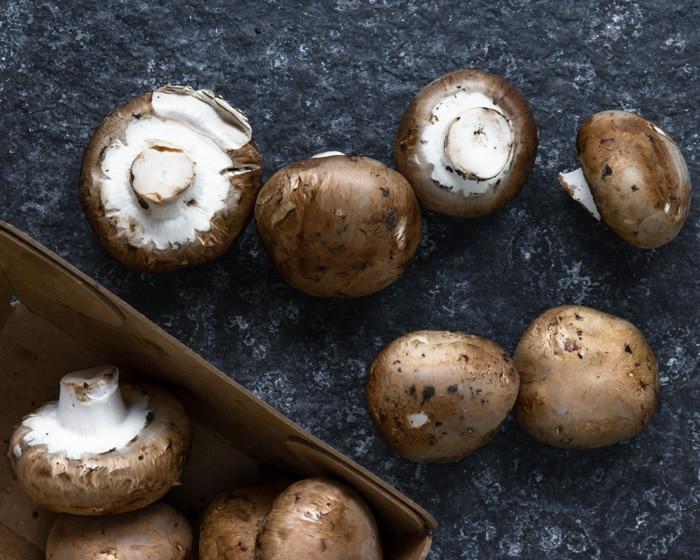 Cremini mushrooms for risotto