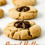 Peanut Butter Chocolate Star Cookie with Pinterest Text