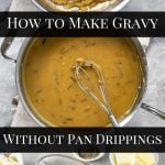 Steps in making really good gravy without pan drippings - pinterest image