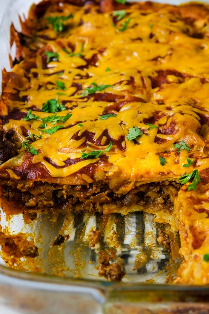 Easy Ground Beef Enchilada Casserole Mom S Dinner