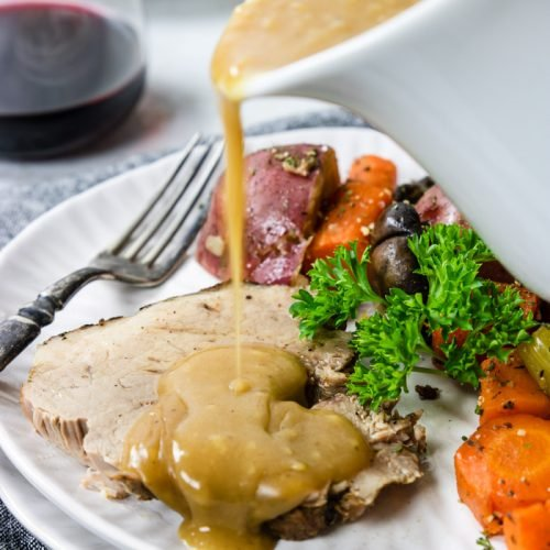 Instant Pot Pork Roast with Vegetables & Gravy
