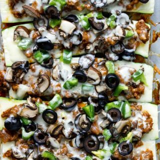 Baked Zucchini Pizza Boats