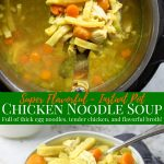 Chicken Noodle SOup in the Instant Pot and dished into a bowl - pinterest text