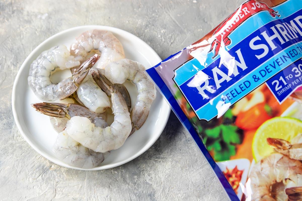 Trader Joe's peeled and deveined raw shrimp for cajun shrimp
