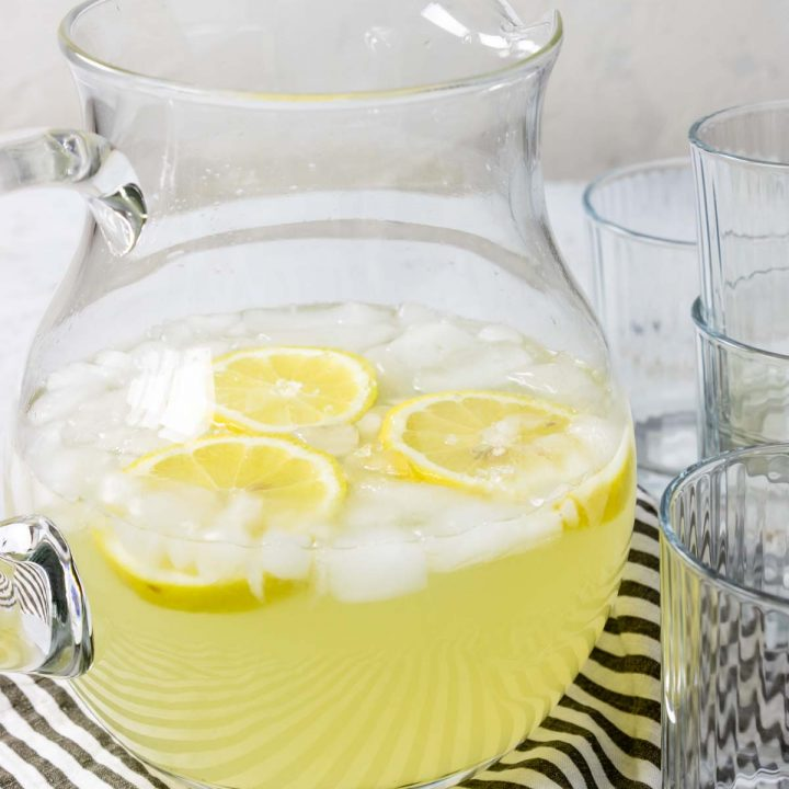lemonade in a pitcher